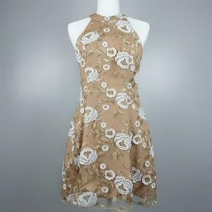 Dress the Population Abbie Beige Lace Dress